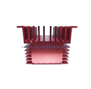 Custom extrusion heatsink with special anodized